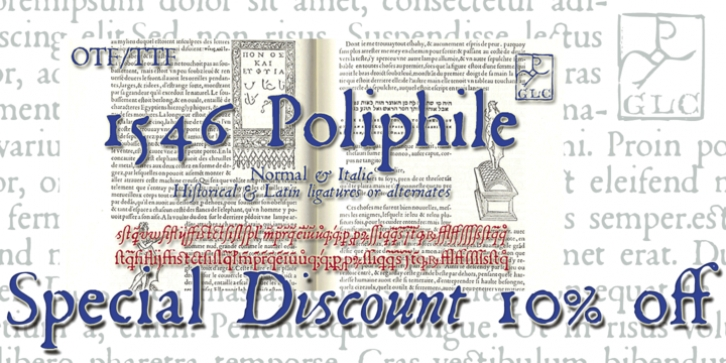 1546 Poliphile font preview