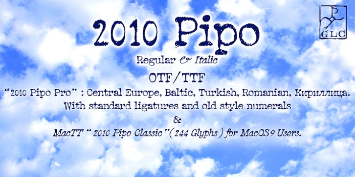2010 Pipo font preview