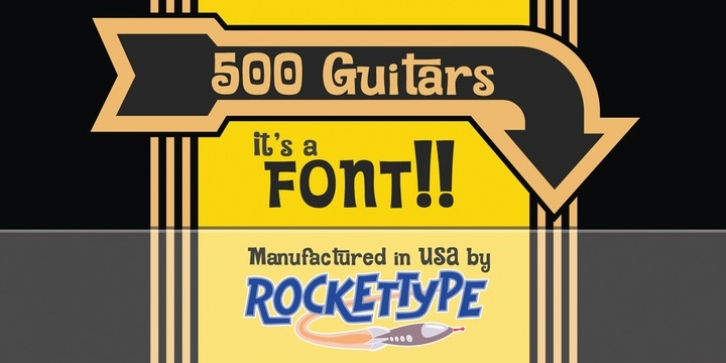 500 Guitars font preview