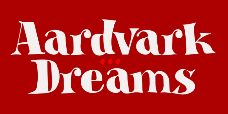Aardvark Dreams font preview
