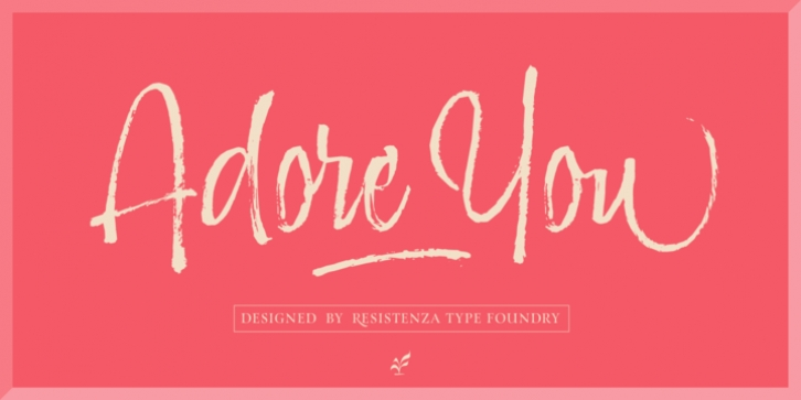 Adore You font preview