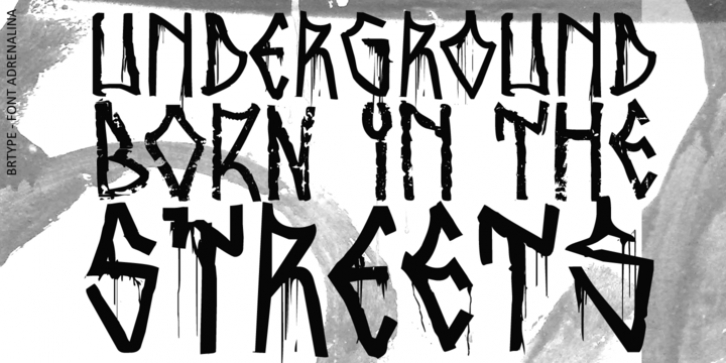 Adrenalina font preview