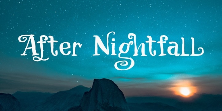 After Nightfall font preview