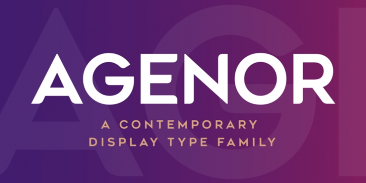 Agenor font preview