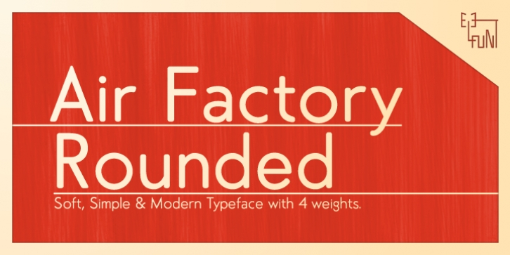 Air Factory Rounded font preview