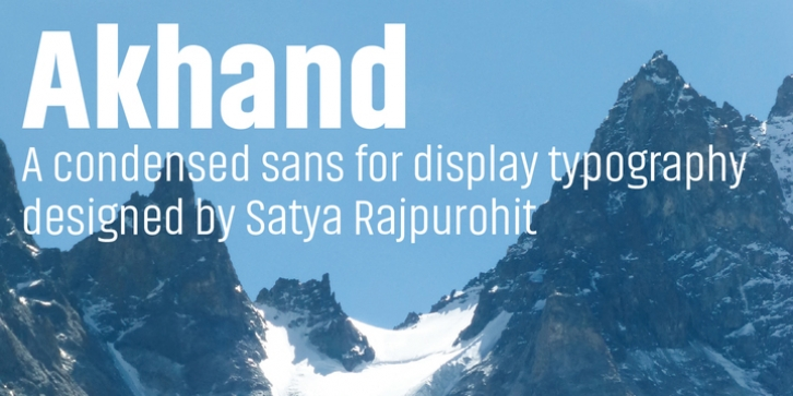 Akhand font preview