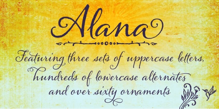 Alana font preview
