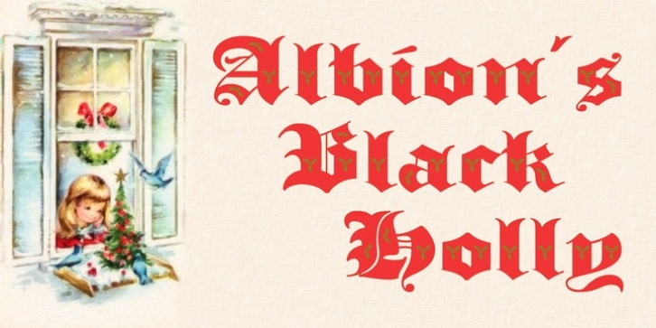 Albion's Black Holly font preview