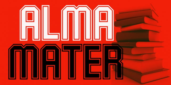 Alma Mater font preview
