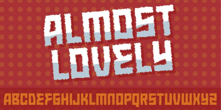 Almost Lovely font preview