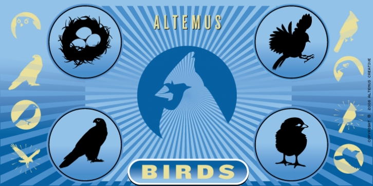 Altemus Birds font preview
