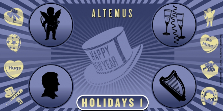 Altemus Holidays One font preview