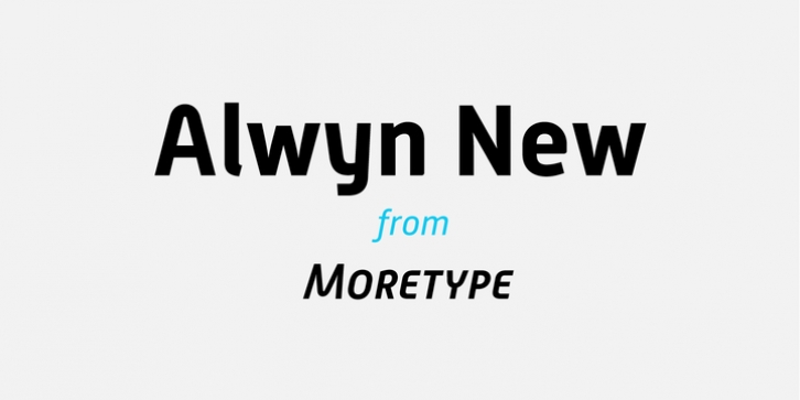 Alwyn New font preview