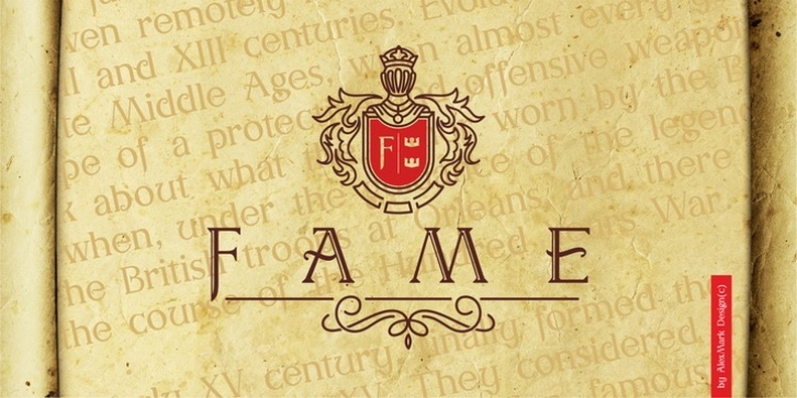 AM Fame font preview