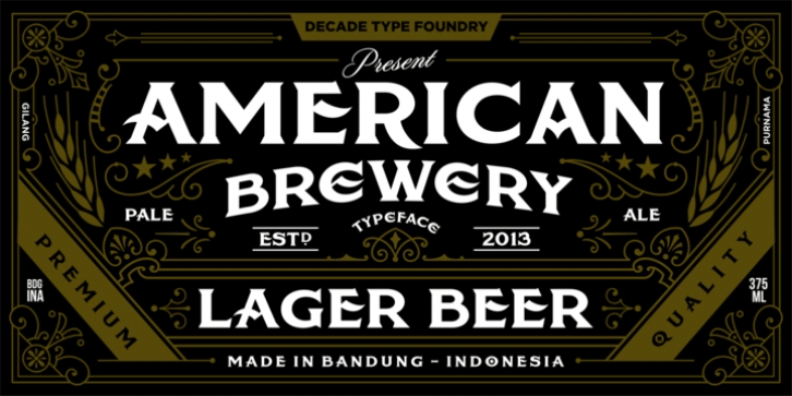 American Brewery font preview