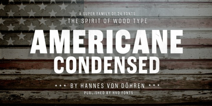 Americane Condensed font preview