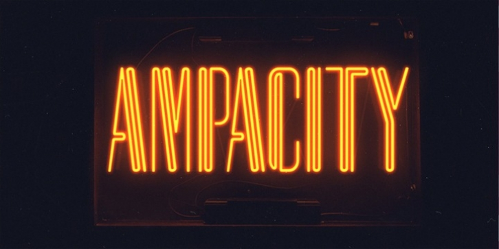 Ampacity font preview