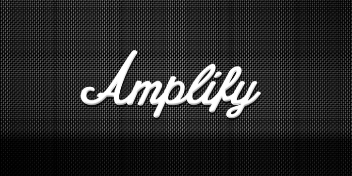 Amplify font preview