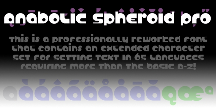 Anabolic Spheroid Pro font preview