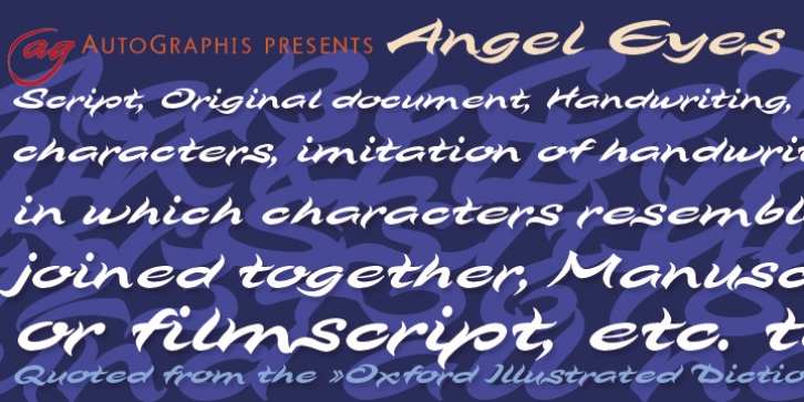 Angel Eyes font preview