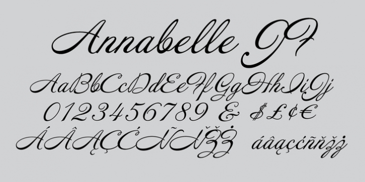 Annabelle JF font preview