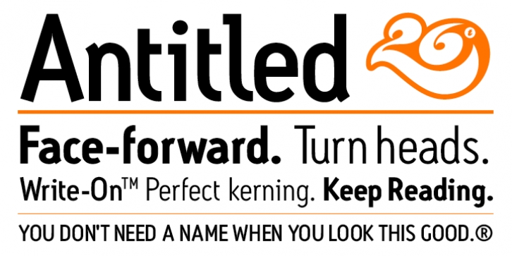 Antitled font preview