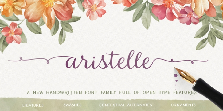 Aristelle font preview