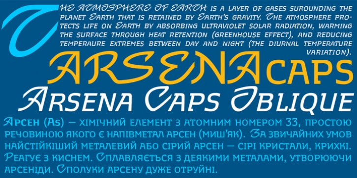 Arsena font preview