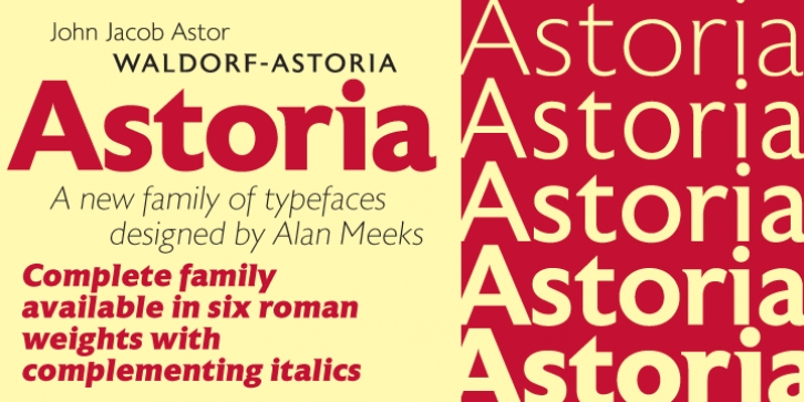 Astoria font preview