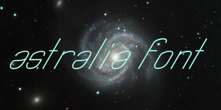 Astralia font preview