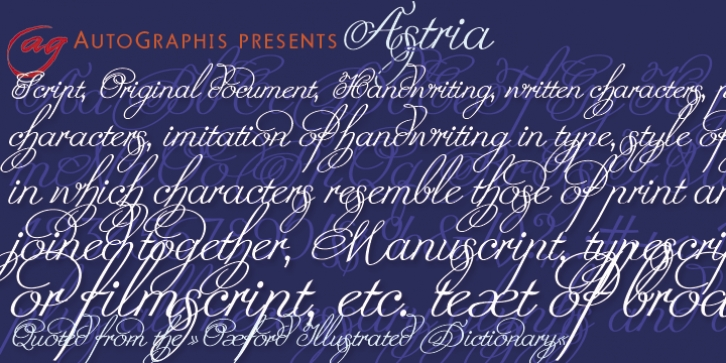 Astria font preview