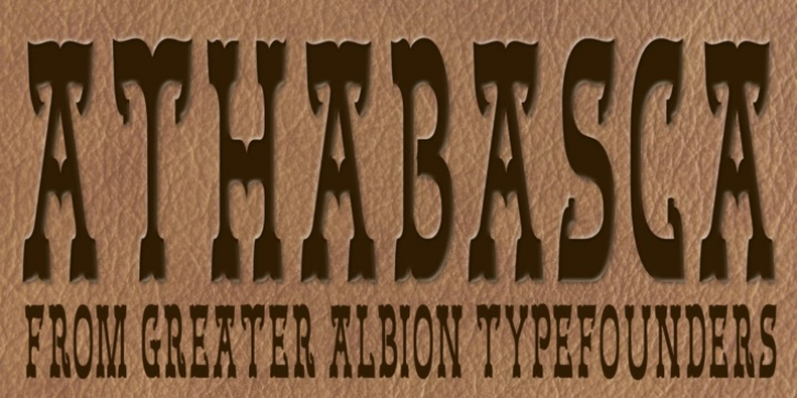 Athabasca font preview
