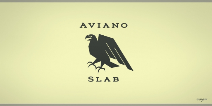 Aviano Slab font preview