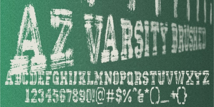 AZ Varsity Brush font preview