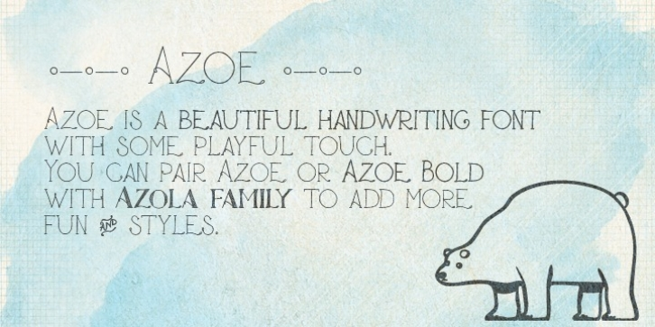 Azoe font preview
