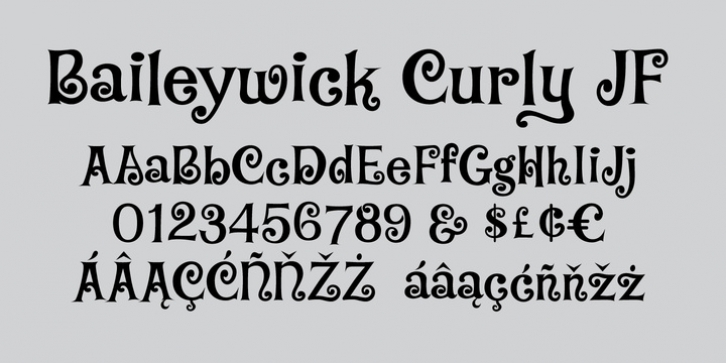 Baileywick JF font preview