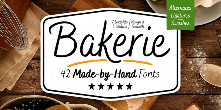 Bakerie font preview