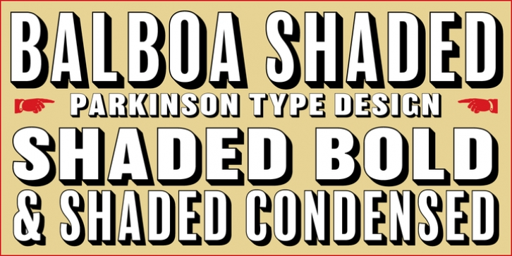 Balboa Shaded font preview