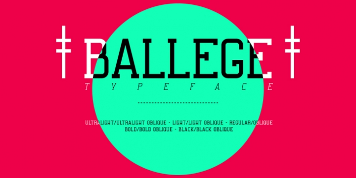 Ballege font preview