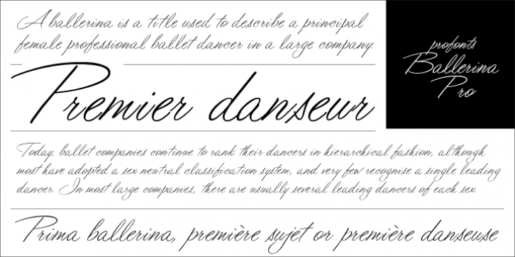 Ballerina Pro font preview