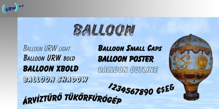 Balloon font preview