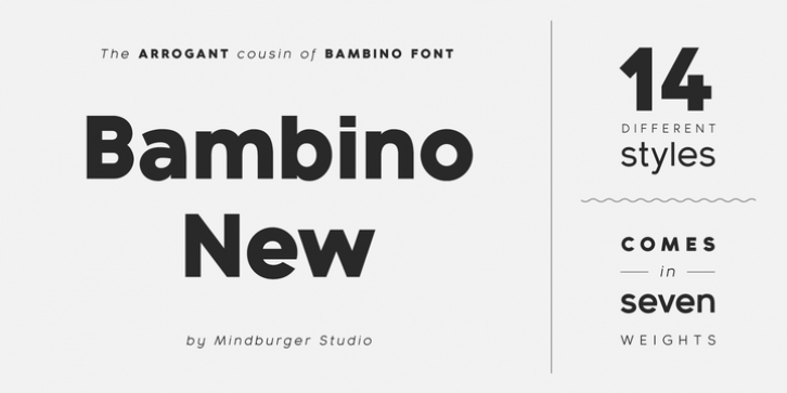 Bambino New font preview