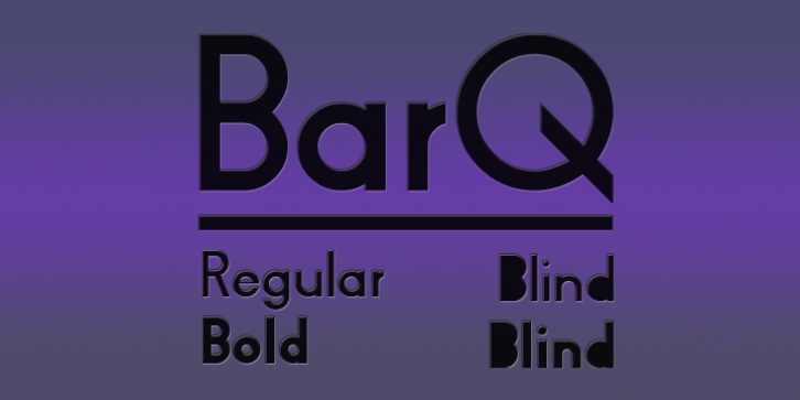 BarQ font preview