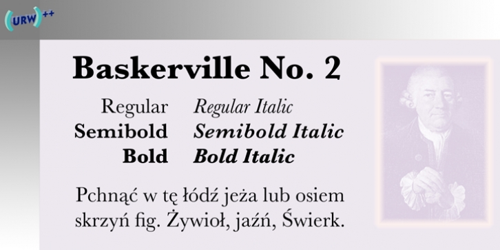 Baskerville No. 2 font preview