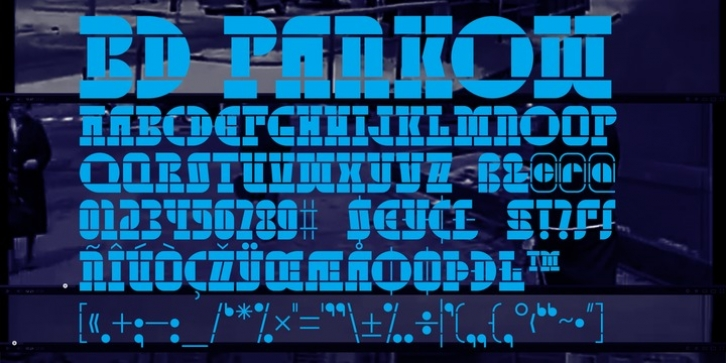 BD Pankow font preview