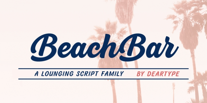 BeachBar font preview