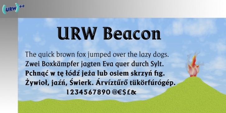 Beacon font preview