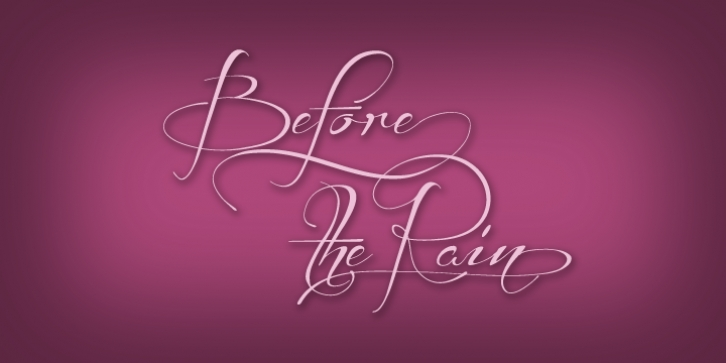Before The Rain font preview