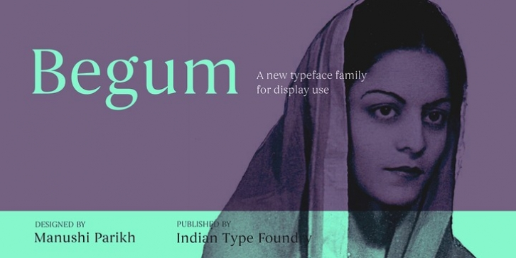 Begum font preview