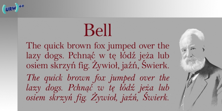 Bell font preview